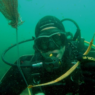 Bajo el agua!